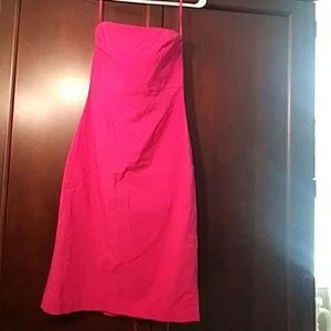 Express stretch strapless dress.